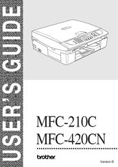 brother mfc 420cn user manual pdf download rh manualslib com Brother MFC 420CN Troubleshooting Brother MFC 420CN Installation Software