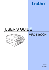 Brother MFC 5490CN - Color Inkjet - All-in-One User Manual