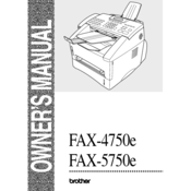 brother 4750e intellifax b w laser manuals rh manualslib com brother intellifax 4750e parts manual brothers intellifax 4750e manual