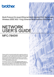 Brother BRT-MFC-7840W - NETWORK READY Network User's Manual
