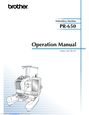 Brother PR-650C Operation Manual