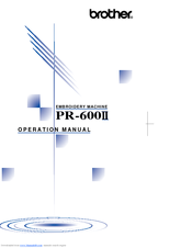 Brother PR-600II User Manual
