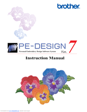 Brother Pe Design V7 Instruction Manual Pdf Download Manualslib