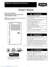 bryant 311jav legacy line plus 80 manuals rh manualslib com 16-SEER Air Conditioner Bryant Bryant Thermostat