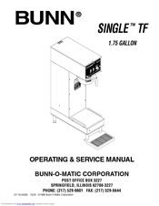 bunn tf server manuals. Black Bedroom Furniture Sets. Home Design Ideas