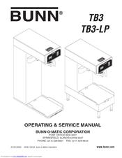 bunn tb3 manuals. Black Bedroom Furniture Sets. Home Design Ideas