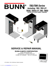 Bunn Coffee Maker Initial Setup : Bunn TB3 Manuals