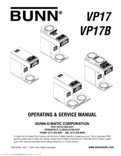 bunn vp17 operating \u0026 service manual pdf download Kitchenaid Wiring Diagram
