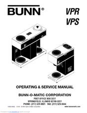 bunn vpr vps operating \u0026 service manual pdf download Braun Wiring Diagram