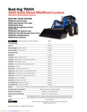 Bush Hog TOUGH 4045 Manuals