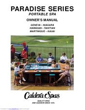 CALDERA PARADISE SERIES OWNER'S MANUAL Pdf Download. on
