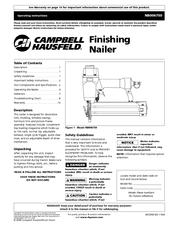 campbell hausfeld nb006750 manuals rh manualslib com Campbell Hausfeld Finish Nailer campbell hausfeld framing nailer manual