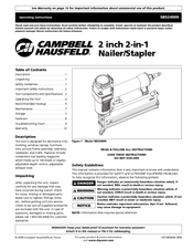campbell hausfeld sb524000 manuals rh manualslib com Campbell Hausfeld Nailer Repair campbell hausfeld iron force framing nailer manual