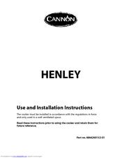 cannon henley 10588g manuals rh manualslib com Top 36 Dual Fuel Ranges Double Oven Dual Fuel Range