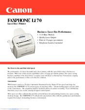 canon faxphone l170 manuals rh manualslib com canon faxphone l170 instruction manual canon i-sensys fax-l170 user guide