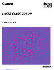 Canon Laser Class 2060P User Manual