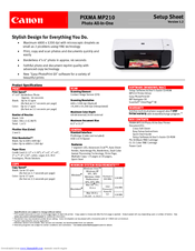 canon pixma mp210 series manuals rh manualslib com canon mp210 manual pdf download canon mp210 manual error codes