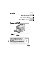 Canon ELURA 100 - Camcorder - 1.3 MP Instruction Manual