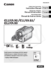 Canon 0274B001 - Elura 85 Camcorder Instruction Manual