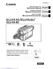 Canon ELURA 80 Instruction Manual