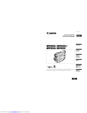 Canon MV650i Instruction Manual