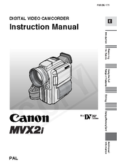 Canon MV MVX2i Instruction Manual