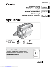 Canon 0286B001 - Optura S1 Camcorder Instruction Manual