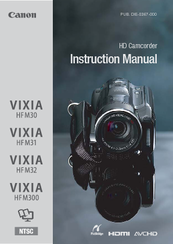 canon vixia hf m300 instruction manual pdf download rh manualslib com Canon VIXIA HF S100 Canon VIXIA HF R20