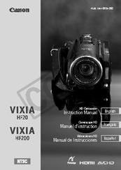 canon vixia hf20 instruction manual pdf download rh manualslib com Canon Vx1a Canon Vx1a