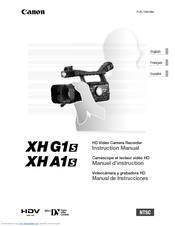 Canon XH A1S Instruction Manual