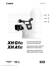 Canon XHA1S Instruction Manual
