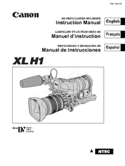 Canon XL H1 Instruction Manual