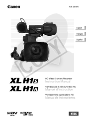 Canon XL H1S Instruction Manual