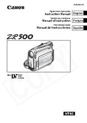 canon zr500 manuals rh manualslib com Users Manual Canon ZR500 Canon ZR500 MiniDV Camcorder