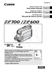 Canon ZR600 Instruction Manual