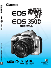 canon eos 350d instruction manual pdf download rh manualslib com canon eos 350d user manual pdf Canon EOS 350D Rebel
