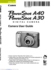 Canon PowerShot A30 User Manual