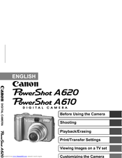 canon powershot a620 user manuals rh manualslib com Digital Camera Cases Sony Digital Camera User Manual