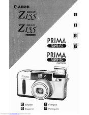 Canon PRIMA Super 135 User Manual