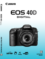 CANON EOS 40D INSTRUCTION MANUAL Pdf Download