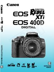 canon eos 400d digital instruction manual pdf download rh manualslib com canon 400d operating manual canon eos 400d user manual pdf