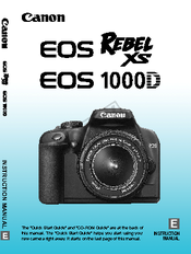 canon eos rebel xs eos rebel xs instruction manual pdf download