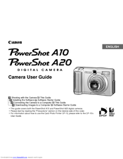 canon powershot a10 manuals rh manualslib com Canon PowerShot Manual PDF canon powershot a10 manual
