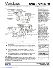 Canon PowerShot A95 Operating Manual