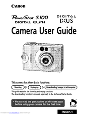 Canon Powershot S100 2MP Digital Elph User Manual