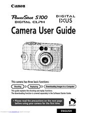 canon powershot s100 digital elph user manual pdf download rh manualslib com canon s100 user manual pdf download canon s100 manual pdf download