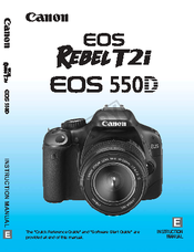 canon rebel t2i eos 550d instruction manual pdf download rh manualslib com canon rebel t2i user manual Canon EOS Rebel T4i