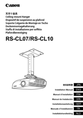 Canon RS-CL10 Installation Manual