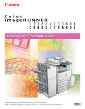 Canon Color imageRUNNER C3380i Sending And Facsimile Manual