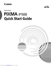 canon ip1500 pixma color inkjet printer manuals rh manualslib com Canon PIXMA Wireless Printer Manual Canon PIXMA Printer Manual